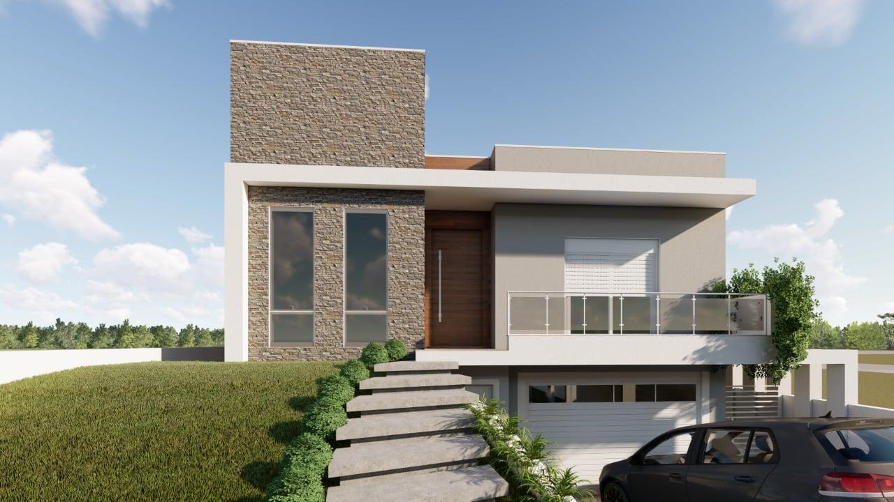 Casa de Médio Padrão em Construção